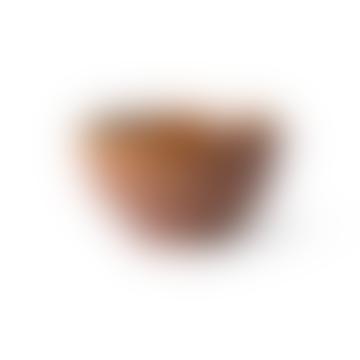 275ml Brown Stoneware Striped Kyoto Bowl