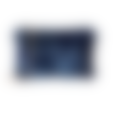 Navy Sequin Evening Bag with Gold Chain Strap