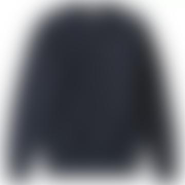 Champion Navy Cotton Classic C Chest Logo Crew Neck Mens Sweatshirt