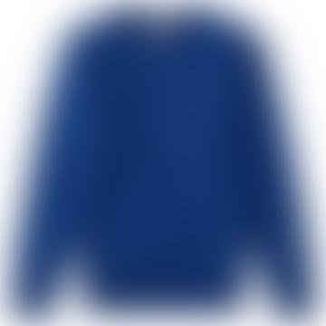 Champion Blue Cotton Classic C Chest Logo Crew Neck Mens Sweatshirt