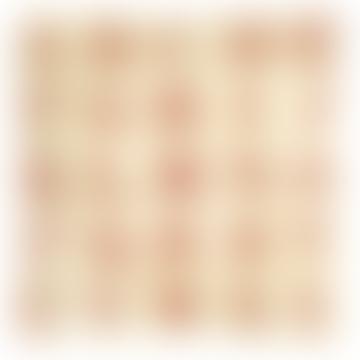 Handmade Decoupage 6 Inch Square Glass Tray - Red Alphabet