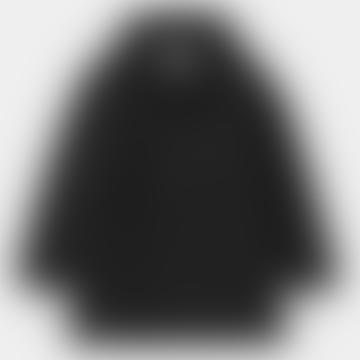 Black Polyester Tropper Parka