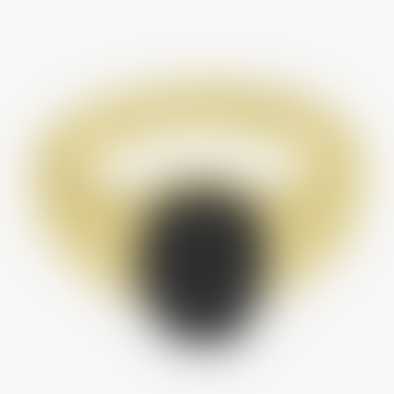 Wild Things 14.9mm Gold Resin Black Scarab Pinky Ring
