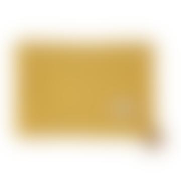 Couverture Légère Farniente en Coton Bio Jaune 100 x 70cm