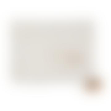 Couverture Légère en Coton Biologique Blanc Stella Or, 100 x 70 cm