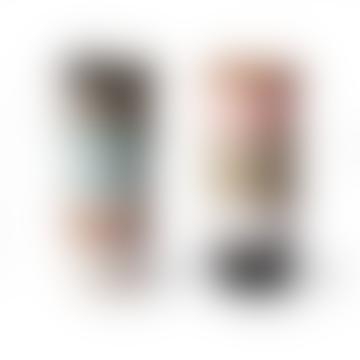 HKliving Set of 6 180ml Multicolour Ceramic 70s Mugs
