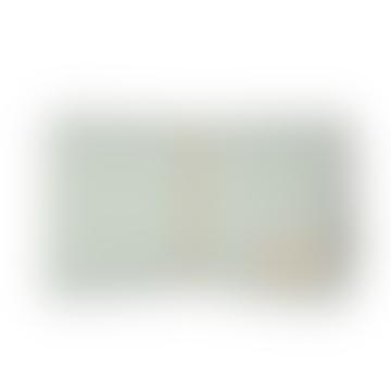 68 x 50cm Aqua Green Organic Cotton Mozart Waterproof Changing Mat