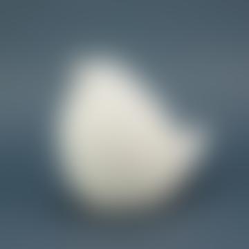 Large Matte Ceramic Dove Jewelry Box