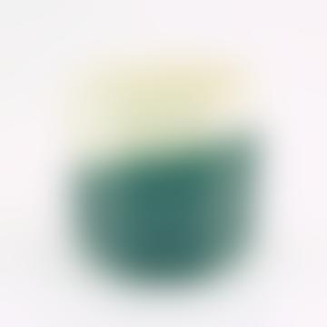 Großer geometrischer Pflanzer aus grünem Terrakotta