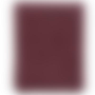 Bordeaux Merino Wool Peak Plaid