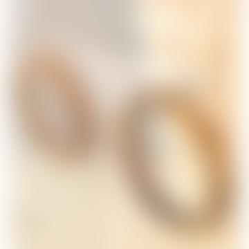 Millie Brown Tortoiseshell Round Acrylic Earrings
