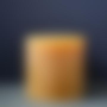 livs 15x15cm Rustic Amber Pillar Candle