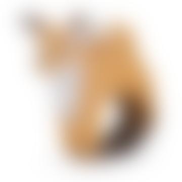 Jouet de dentition à mâcher Rob The Fox en caoutchouc brun de 11 cm