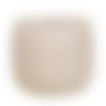 Large Crackle White Glaze Ceramic Ravello Pot