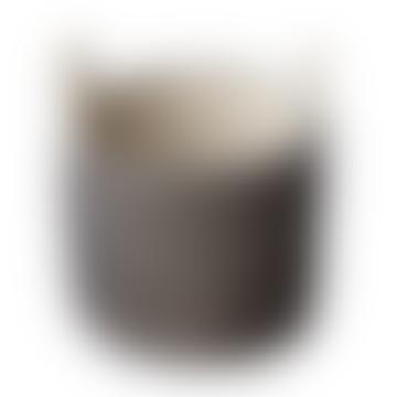 Berawa Woven Seagrass Basket Black M