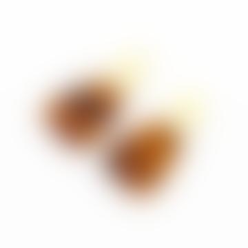 Boucles d'oreilles en laiton marron