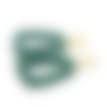 Boucle d'oreille d'ancre en plexiglas vert