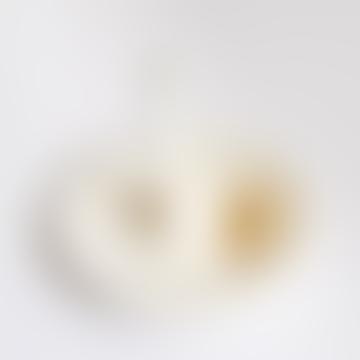 Barruntando White Ceramic Ostrich Rings Plate