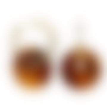 sept cinq Brown Plexiglass Saucer Earrings