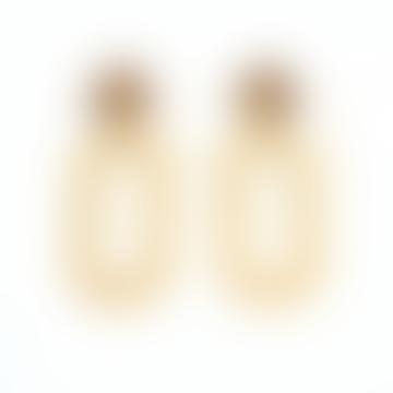 sept cinq Brass Gold D Clip Earrings