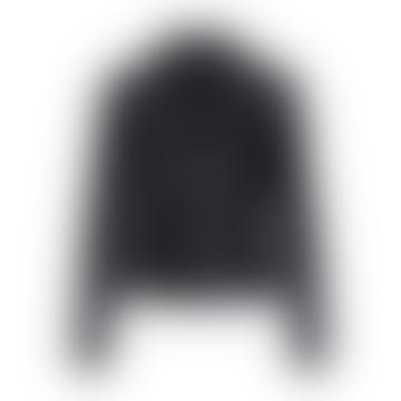 Blouson motard en cuir noir Yassophie