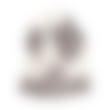Halaus-Schal aus Merinowolle, 75 x 220 cm, beige und weiß