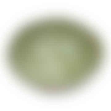 Small Salt Dish In Irish Green Mixed Pattern