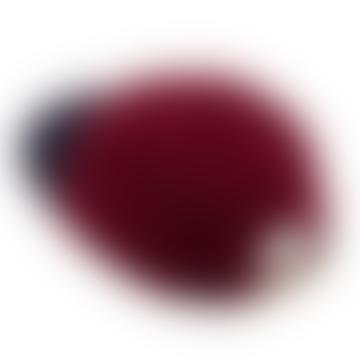 Beton Cire Wool City Cap Dark Navy Red Berry