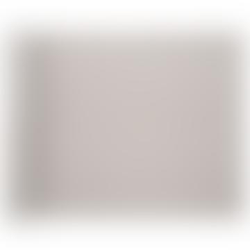 48 x 35 cm weißes Leinen Hanki Tischset