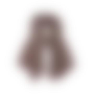 Lila mit Khaki 70 x 180 cm Violine Wolle Design 384 Schal