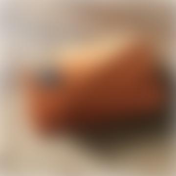 sixton Sixton London Large Rust Velvet Make-Up Bag With Detachable Bee Pin
