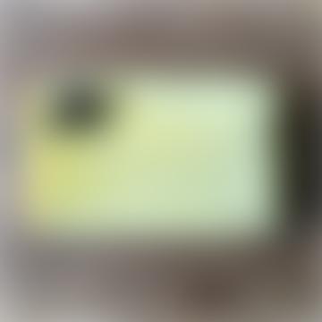 sixton Sixton London Large Yellow Velvet Make-up Bag with Detachable Bee Pin