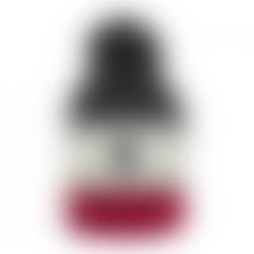 Blanc Bonnet Adult Tricolor Skieur Beanie Hat