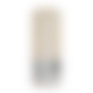 18 x 7cm Cream Metallic Pillar Candle