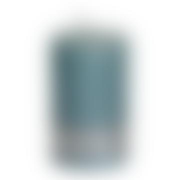 8 x 5cm Mint Green Metallic Pillar Candle