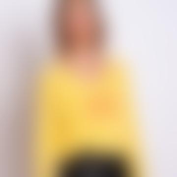 Yellow Cashmere Paris Calling Sweater