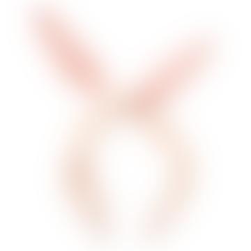 Meri Meri Cream and Pink Velvet Bunny Headband