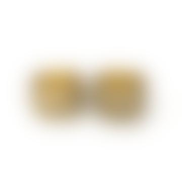 2 T-Light Holders Brass Antique / Gold