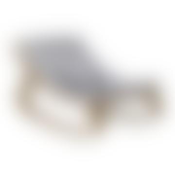 Charlie Crane Walnut Levo Baby Rocker With Sweet Grey Cushion
