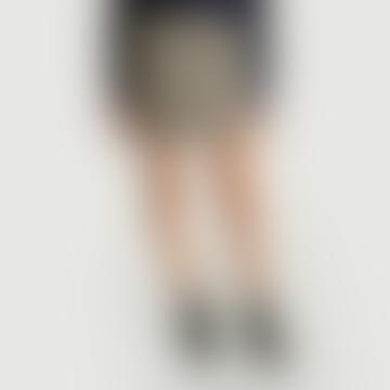 SamsoeSamsoe Caramel Check Blessa Short Wool Skirt