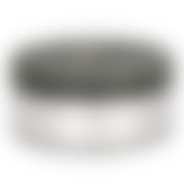 14 x 6cm Dark Green Wax Rustic Pillar Candle