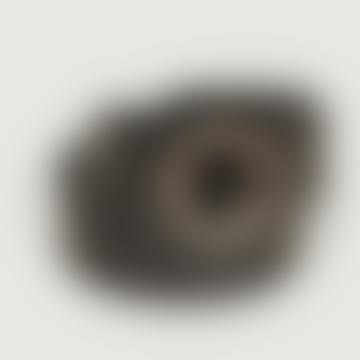 Black Leather Croco Effect Paloma Belt