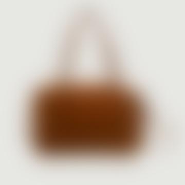 Caramel Suede Leather Little Imane Bag