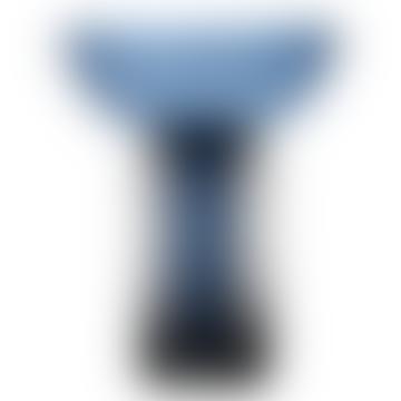 Large Navy/Black Torus Vase