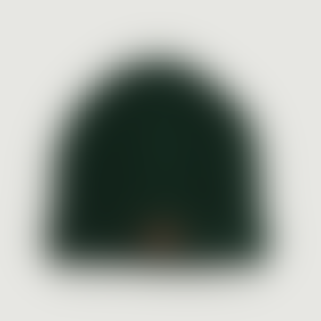 OLOW Dark Green Wool and Acrylic Cousteau Beanie Hat
