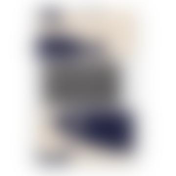 Navy Organic Cotton Sardines Tea Towel