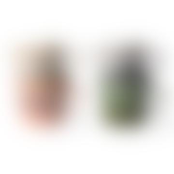 Ensemble de 4 tasses à cappuccino multicolores en céramique de 70s