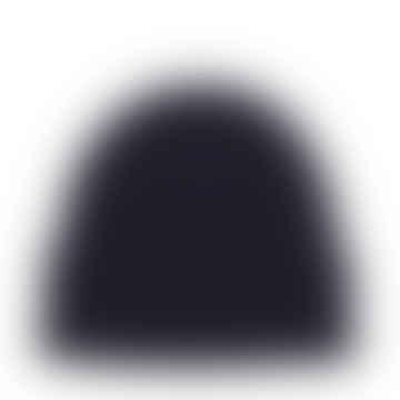 Dunkelblaue Merinowollmütze