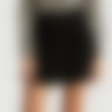Short Black Wool Pressure Skirt