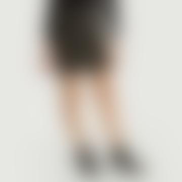 Short Black Acrylic Tweed Ninn Skirt